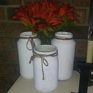 Handmade mason jar set